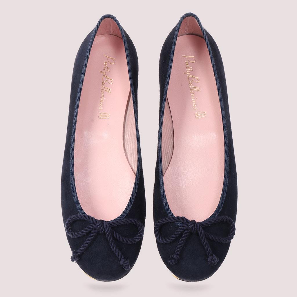 Emilia כחול נעלי בובה נעלי בלרינה נעליים שטוחות נעליים נוחות ballerinas