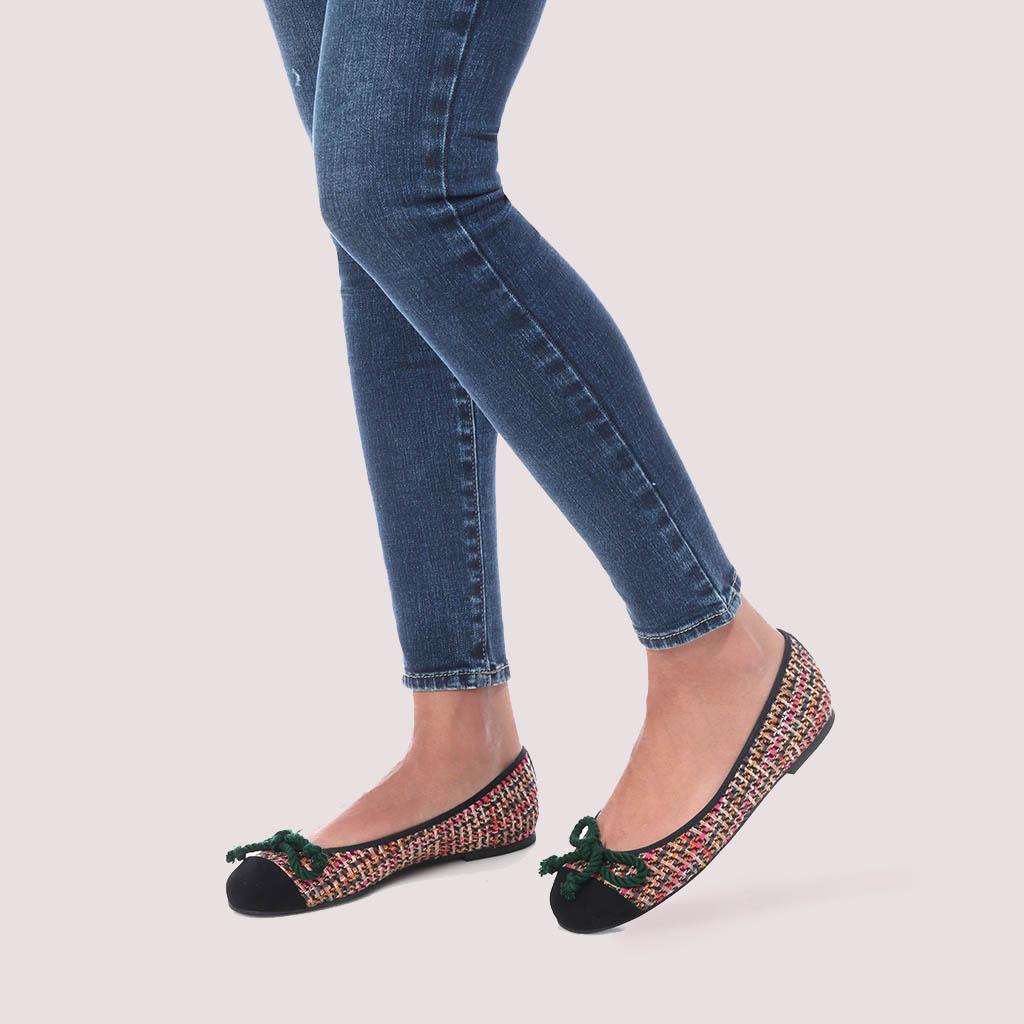 Rosario|שחור|ורוד|חום|צהוב|נעלי בובה|נעלי בלרינה|נעליים שטוחות|נעליים נוחות|ballerinas