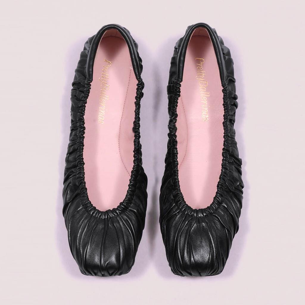 Kristen|שחור|נעלי בובה|נעלי בלרינה|נעליים שטוחות|נעליים נוחות|ballerinas