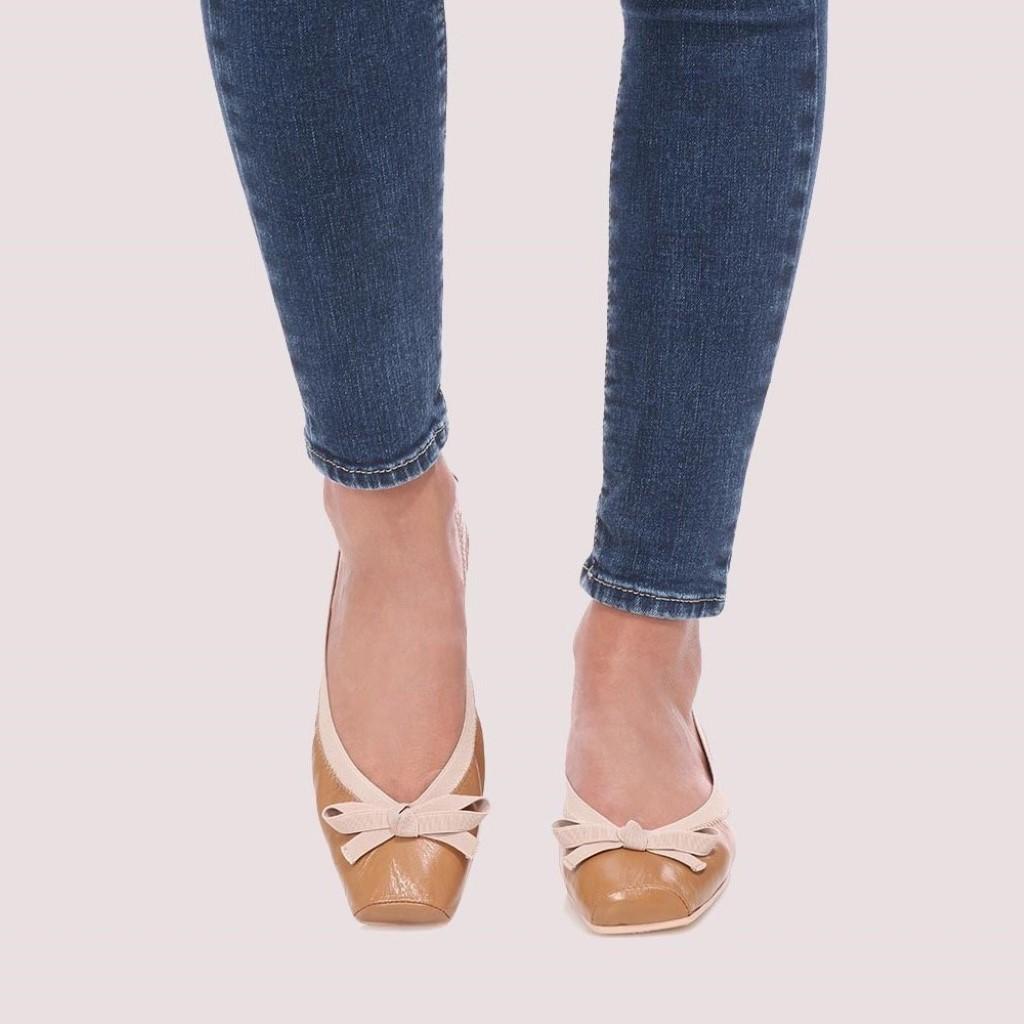 Kristen|כאמל|נעלי בובה|נעלי בלרינה|נעליים שטוחות|נעליים נוחות|ballerinas