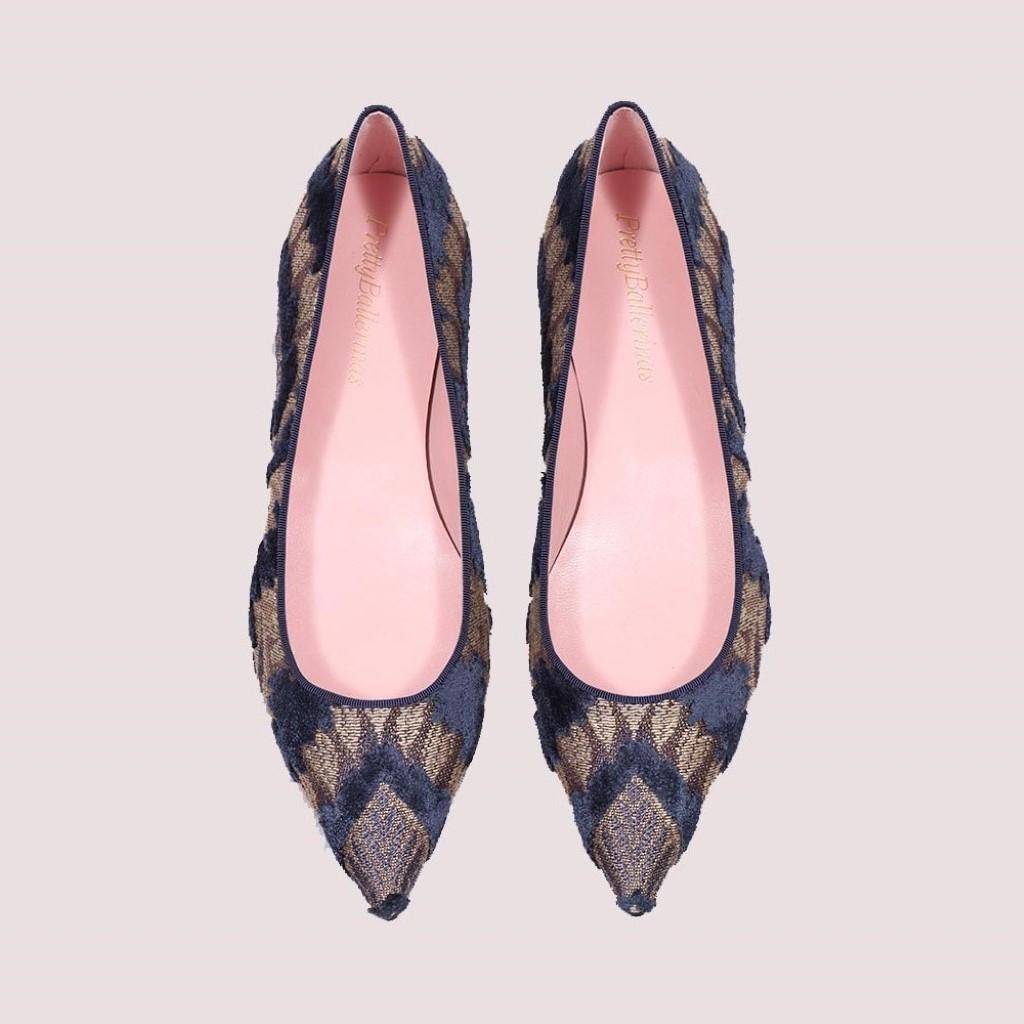 Ella|כסף|כחול|נעלי בובה|נעלי בלרינה|נעליים שטוחות|נעליים נוחות|ballerinas