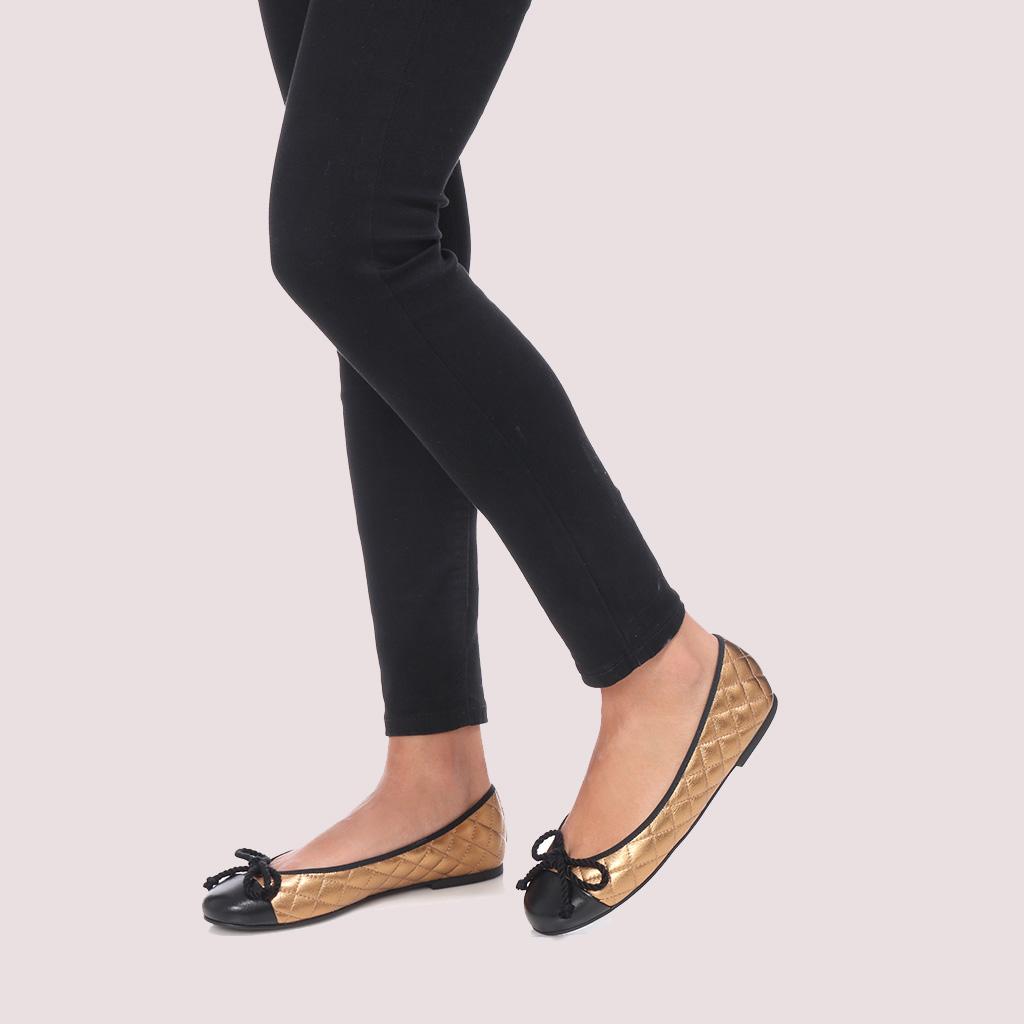 Rosario שחור ברונזה נעלי בובה נעלי בלרינה נעליים שטוחות נעליים נוחות ballerinas