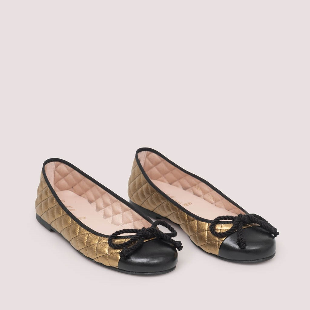 Rosario|שחור|ברונזה|נעלי בובה|נעלי בלרינה|נעליים שטוחות|נעליים נוחות|ballerinas