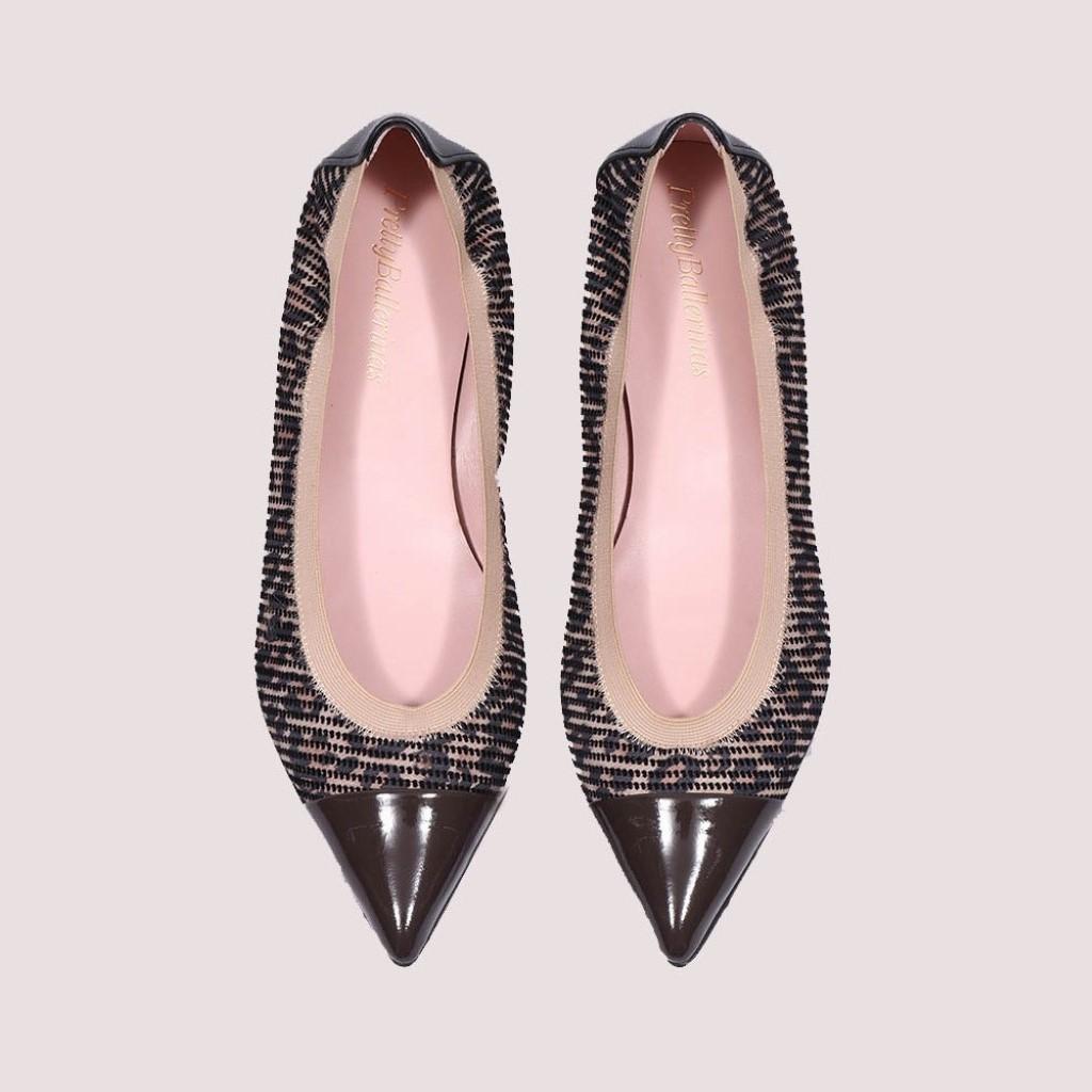 Ella|חום|שחור|כאמל|נעלי בובה|נעלי בלרינה|נעליים שטוחות|נעליים נוחות|ballerinas