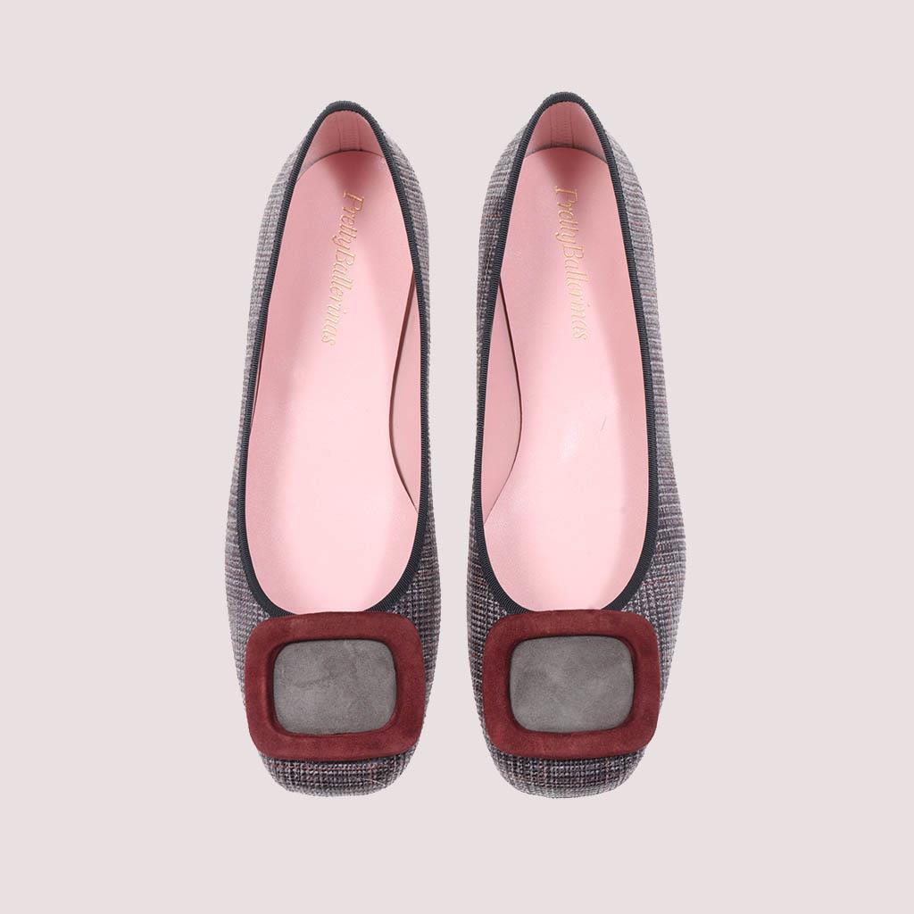 Zoey אפור חום ירוק נעלי בובה נעלי בלרינה נעליים שטוחות נעליים נוחות ballerinas