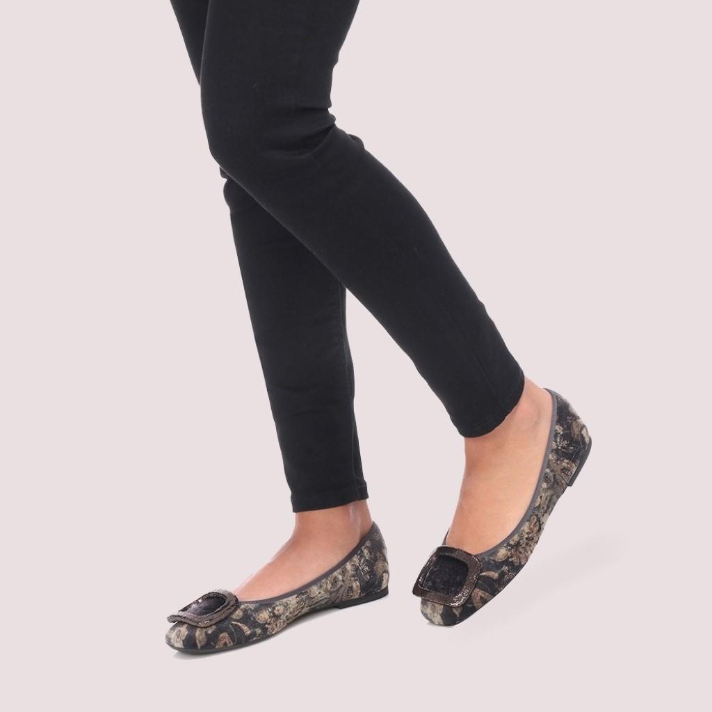 Zoey חום כאמל אבן אפור נעלי בובה נעלי בלרינה נעליים שטוחות נעליים נוחות ballerinas