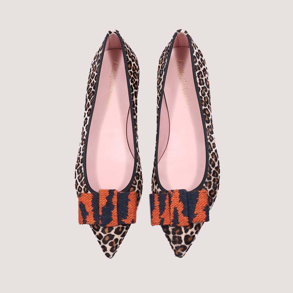 Clementine|חום|כתום|שחור|נעלי בובה|נעלי בלרינה|נעליים שטוחות|נעליים נוחות|ballerinas