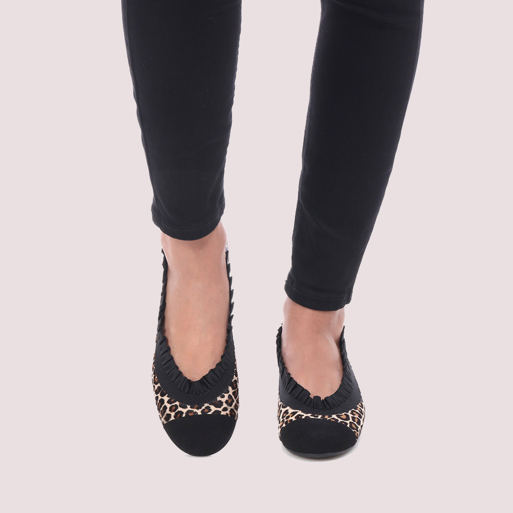 Shirley|שחור|חום|נעלי בובה|נעלי בלרינה|נעליים שטוחות|נעליים נוחות|ballerinas