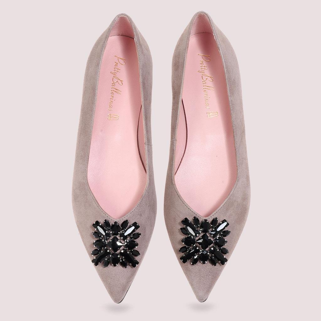 Millie|אפור|נעלי בובה|נעלי בלרינה|נעליים שטוחות|נעליים נוחות|ballerinas
