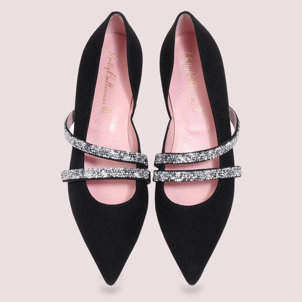 Skyler|שחור|נעלי בובה|נעלי בלרינה|נעליים שטוחות|נעליים נוחות|ballerinas