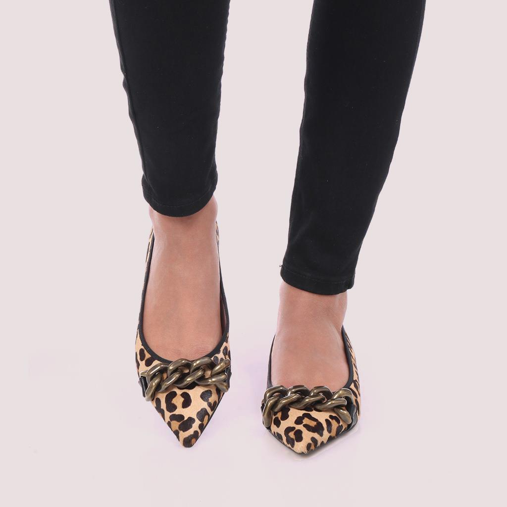 Ella שחור כאמל נעלי בובה נעלי בלרינה נעליים שטוחות נעליים נוחות ballerinas
