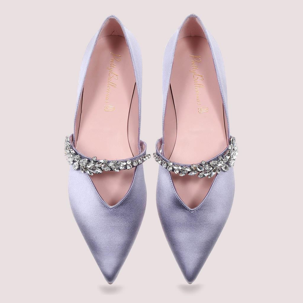 Ella|סגול|נעלי בובה|נעלי בלרינה|נעליים שטוחות|נעליים נוחות|ballerinas