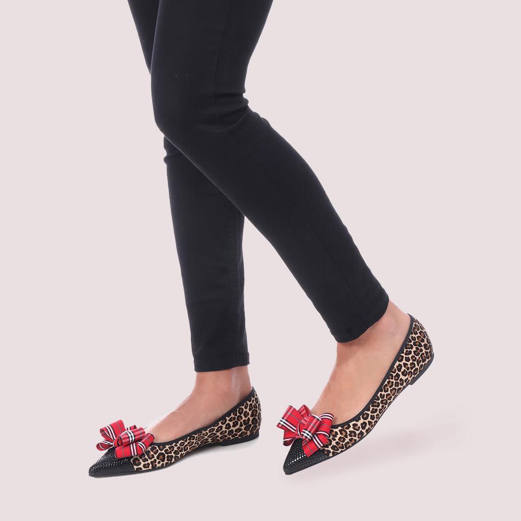 Ella שחור חום נעלי בובה נעלי בלרינה נעליים שטוחות נעליים נוחות ballerinas