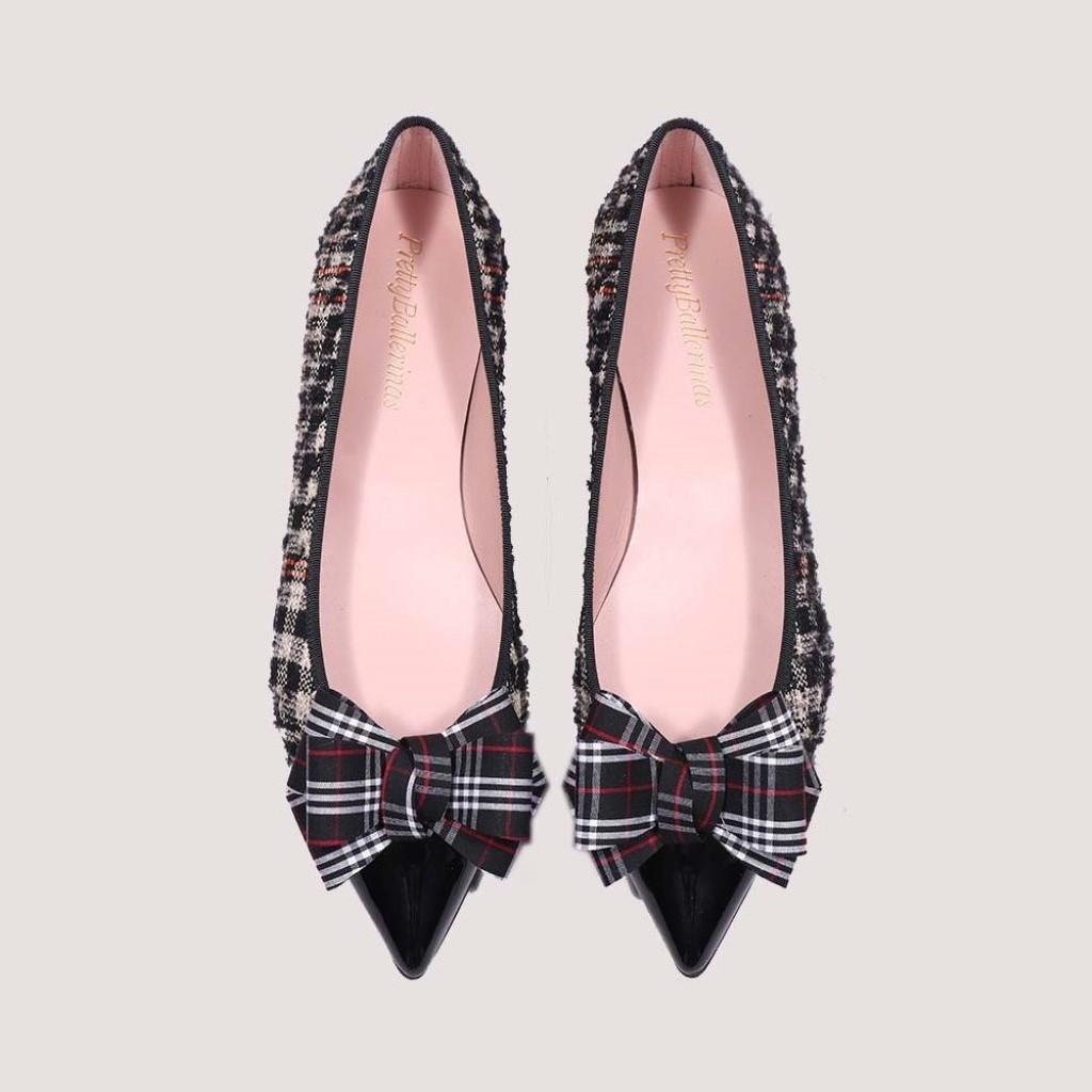 Ella שחור אבן ורוד נעלי בובה נעלי בלרינה נעליים שטוחות נעליים נוחות ballerinas