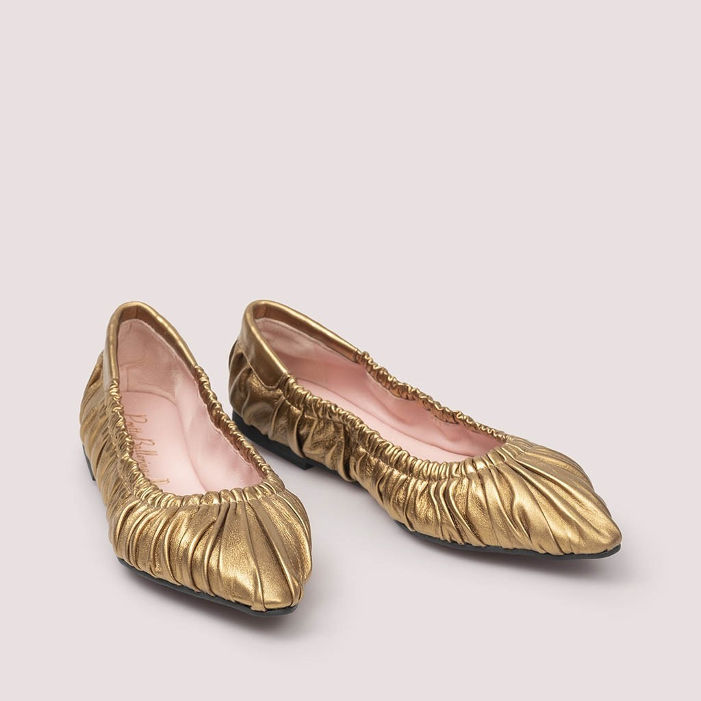Tyra|ברונזה|נעלי בובה|נעלי בלרינה|נעליים שטוחות|נעליים נוחות|ballerinas