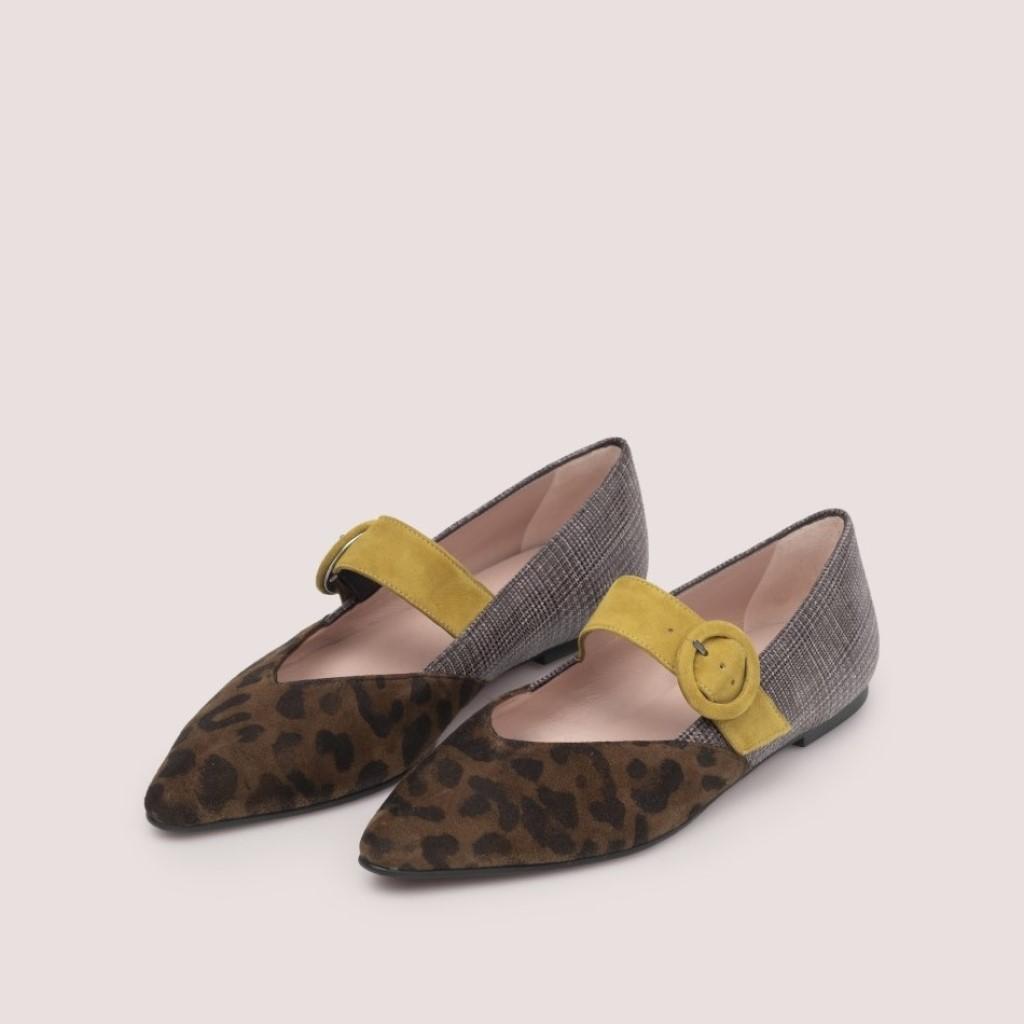 Tyra חום שחור אפור ירוק נעלי בובה נעלי בלרינה נעליים שטוחות נעליים נוחות ballerinas