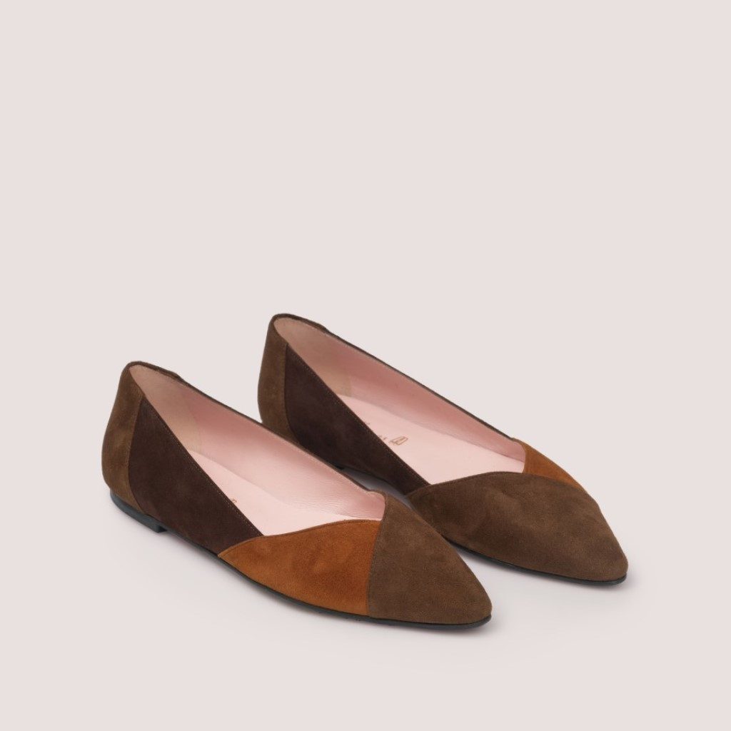 Tyra חום חמרה נעלי בובה נעלי בלרינה נעליים שטוחות נעליים נוחות ballerinas