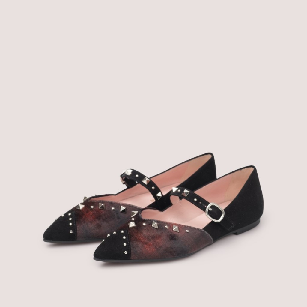 Ella|שחור|בורדו|נעלי בובה|נעלי בלרינה|נעליים שטוחות|נעליים נוחות|ballerinas
