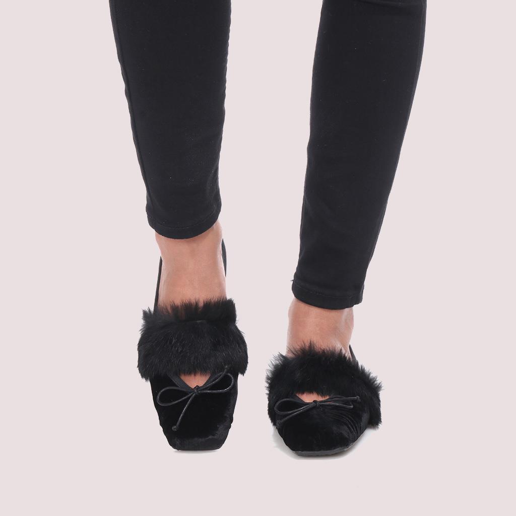 Kristen שחור נעלי בובה נעלי בלרינה נעליים שטוחות נעליים נוחות ballerinas