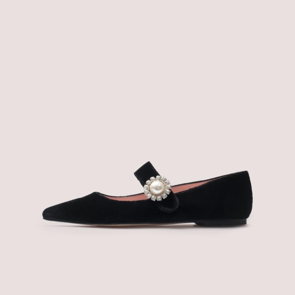Ella שחור נעלי בובה נעלי בלרינה נעליים שטוחות נעליים נוחות ballerinas
