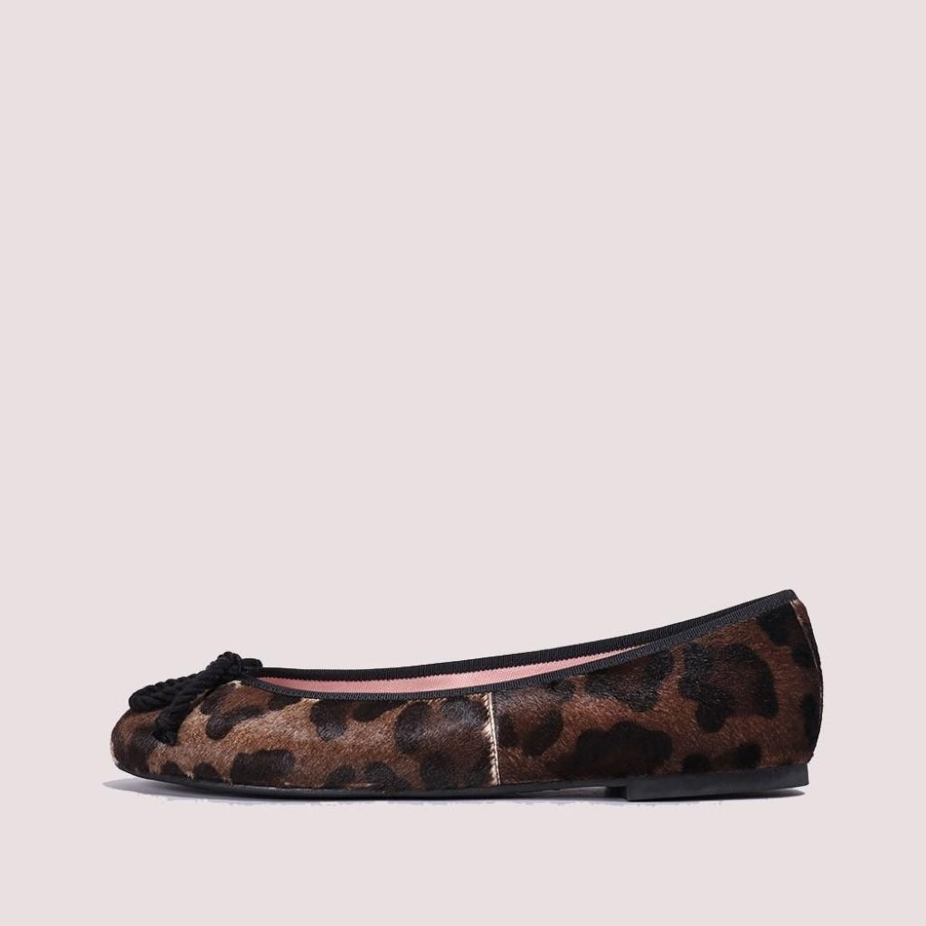Rosario חום שחור נעלי בובה נעלי בלרינה נעליים שטוחות נעליים נוחות ballerinas