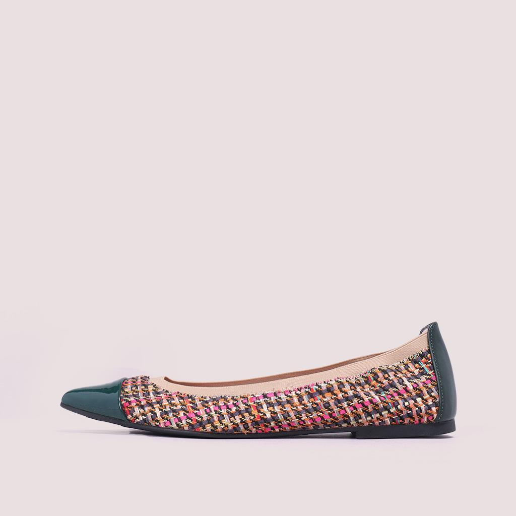 Ella|ירוק|ורוד|חום|צהוב|נעלי בובה|נעלי בלרינה|נעליים שטוחות|נעליים נוחות|ballerinas