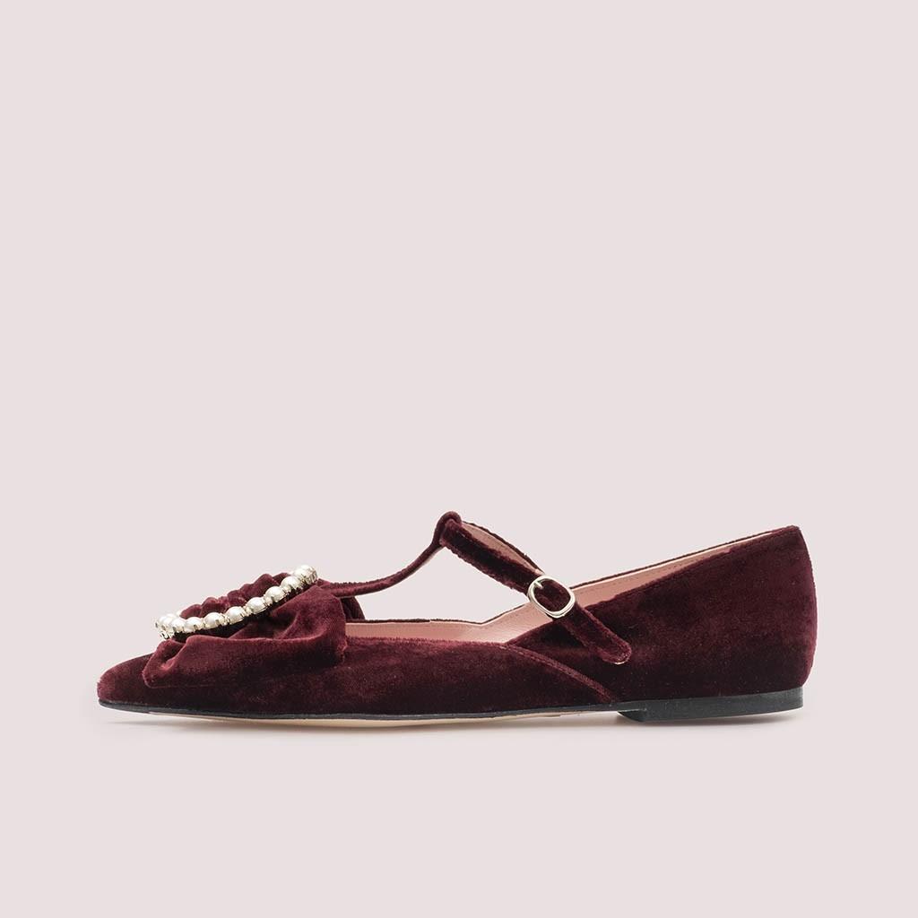 Ella|אדום|נעלי בובה|נעלי בלרינה|נעליים שטוחות|נעליים נוחות|ballerinas
