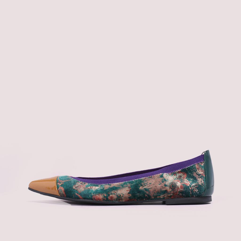 Ella|חום|ירוק|ורוד|כאמל|נעלי בובה|נעלי בלרינה|נעליים שטוחות|נעליים נוחות|ballerinas