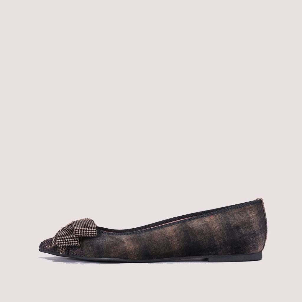 Ella|ברונזה|חום|שחור|נעלי בובה|נעלי בלרינה|נעליים שטוחות|נעליים נוחות|ballerinas