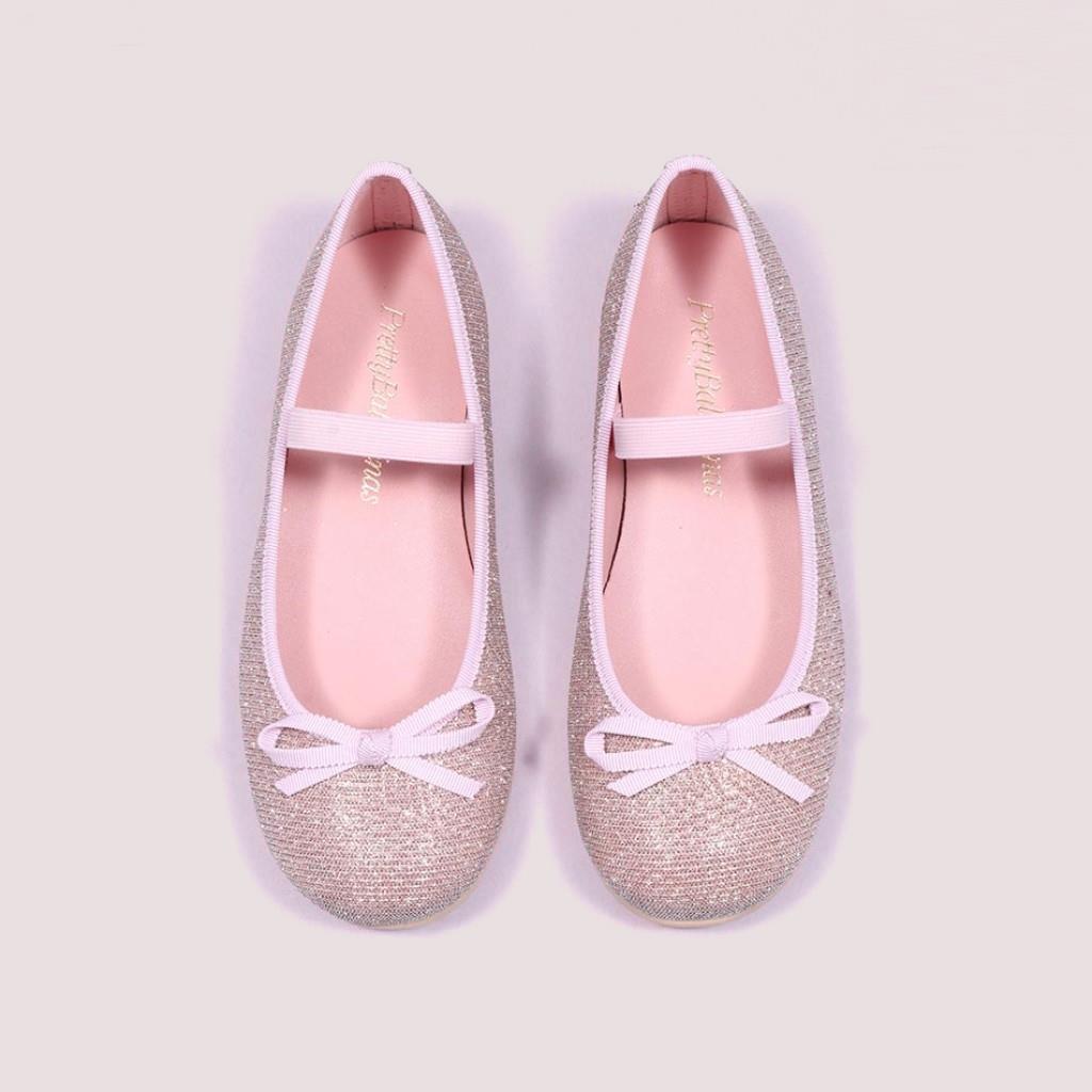 Hannah|ורוד|ילדות| בלרינה|נעלי בלרינה לילדות|נעלי בלרינה