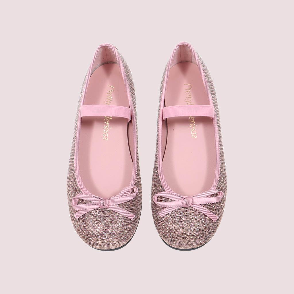 Hannah|כסף|סגול|ילדות| בלרינה|נעלי בלרינה לילדות|נעלי בלרינה