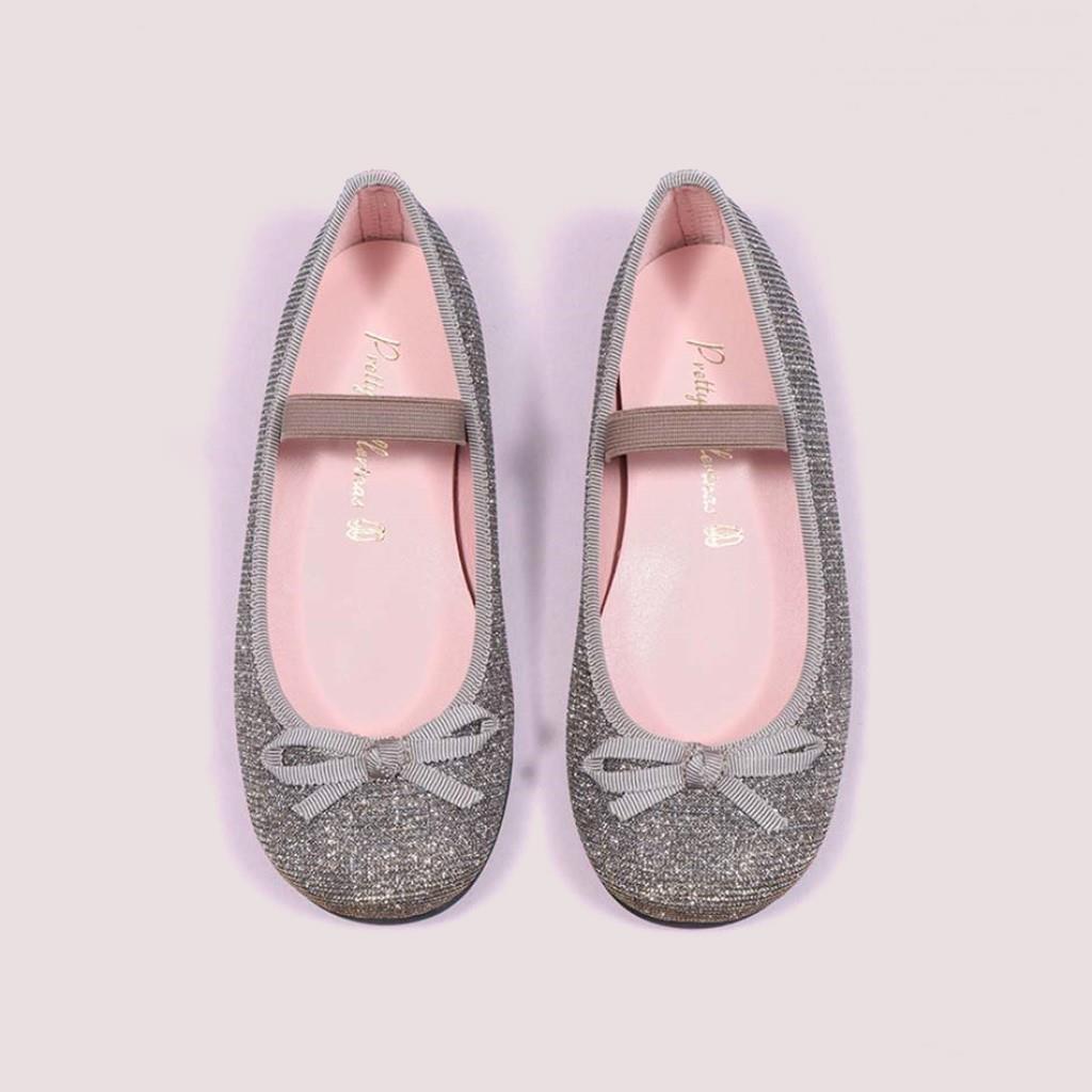 Hannah|שחור|כסף|זהב|ילדות| בלרינה|נעלי בלרינה לילדות|נעלי בלרינה