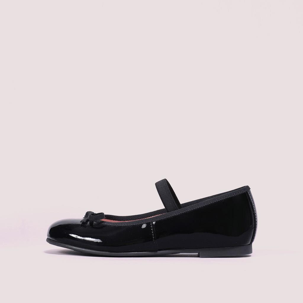 Hannah שחור ילדות  בלרינה נעלי בלרינה לילדות נעלי בלרינה