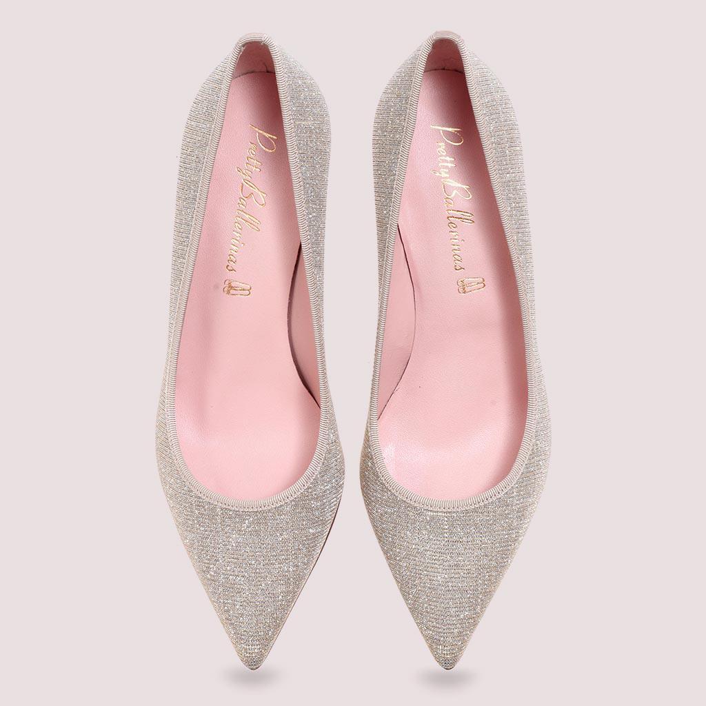 Mallory|כסף|עקב|נעלי עקב|Heels