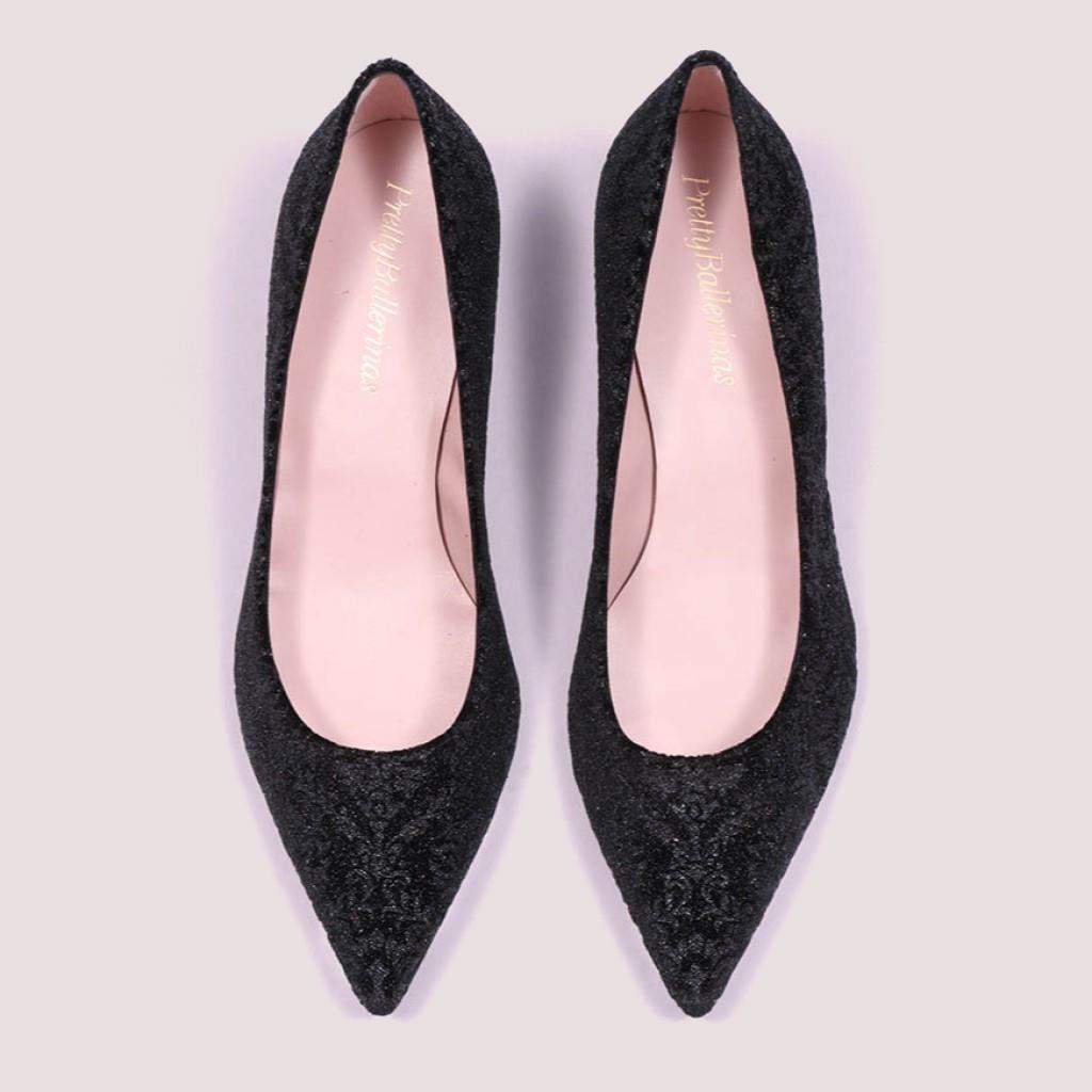 Holly שחור ברונזה עקב נעלי עקב Heels