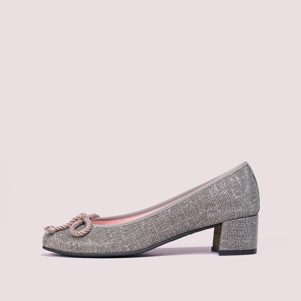 Joanna שחור כסף זהב עקב נעלי עקב Heels