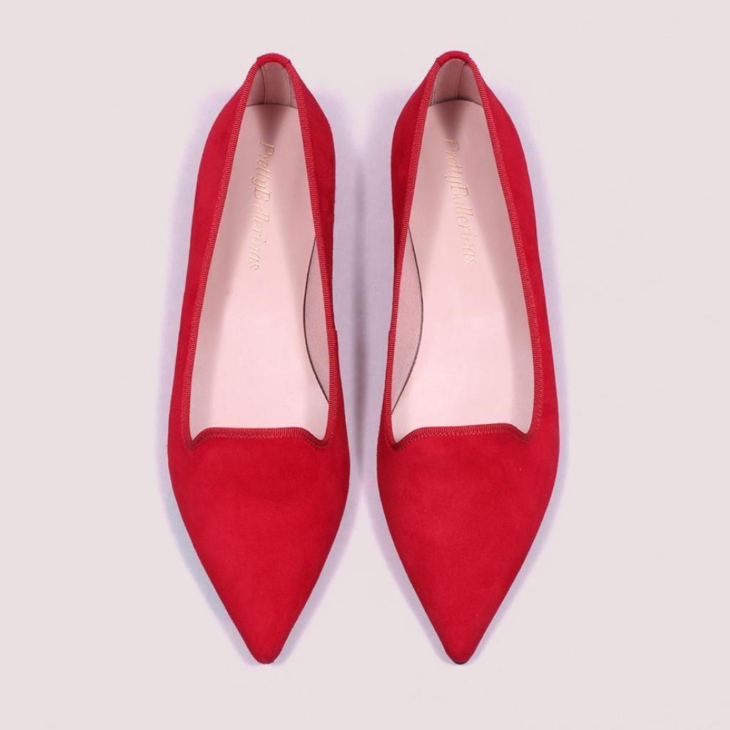 Ella אדום נעלי בובה נעלי בלרינה נעליים שטוחות נעליים נוחות ballerinas