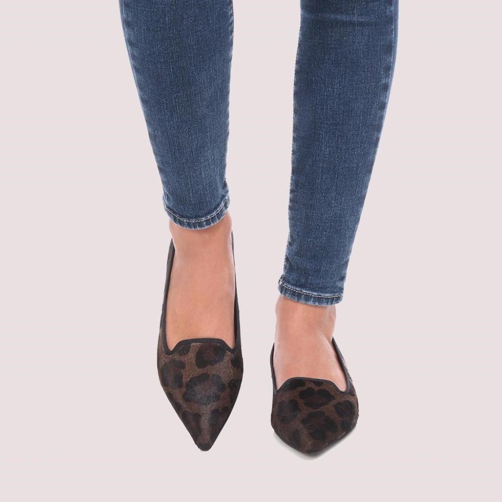 Ella|חום|שחור|נעלי בובה|נעלי בלרינה|נעליים שטוחות|נעליים נוחות|ballerinas