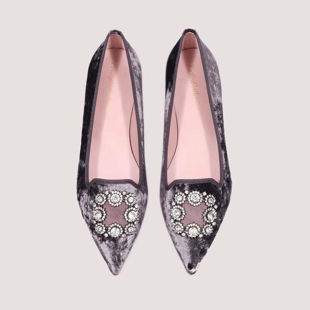Ella|אפור|נעלי בובה|נעלי בלרינה|נעליים שטוחות|נעליים נוחות|ballerinas