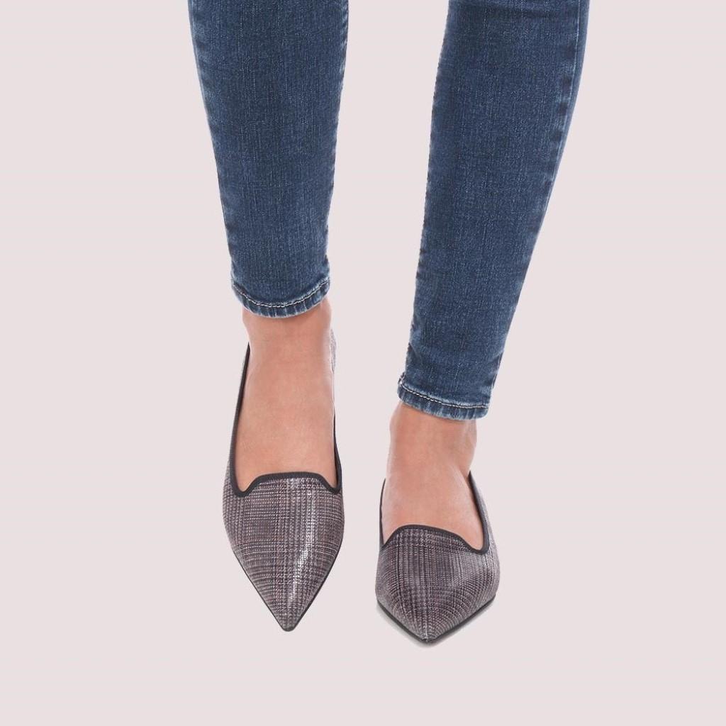 Ella|אפור|חום|ירוק|נעלי בובה|נעלי בלרינה|נעליים שטוחות|נעליים נוחות|ballerinas