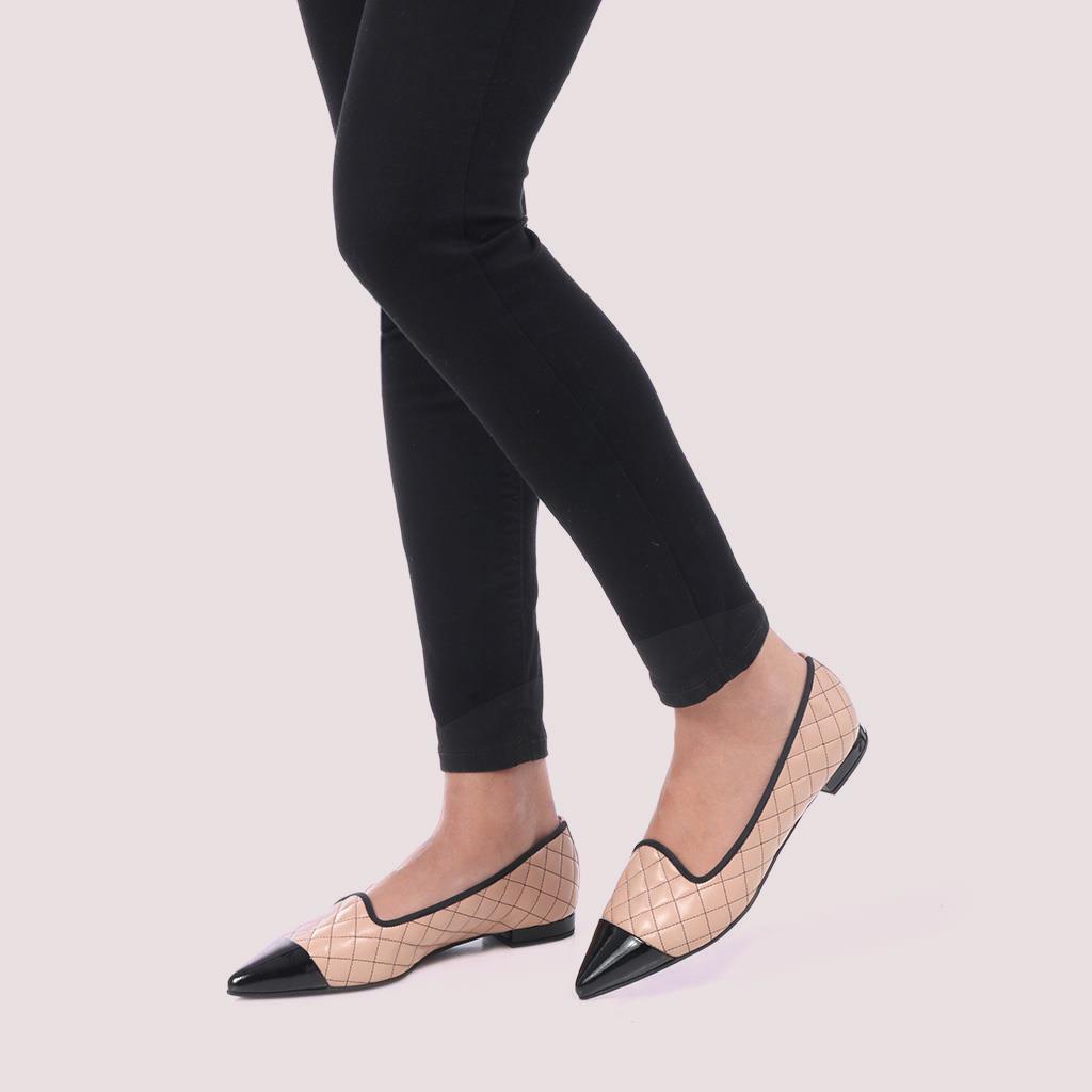 Clementine|שחור|חום|נעלי בובה|נעלי בלרינה|נעליים שטוחות|נעליים נוחות|ballerinas