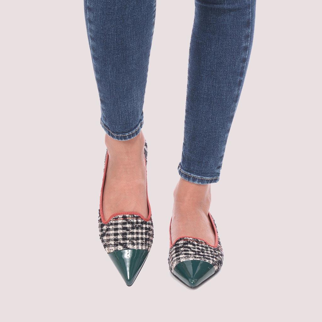 Ella|ירוק|שחור|אבן|ורוד|נעלי בובה|נעלי בלרינה|נעליים שטוחות|נעליים נוחות|ballerinas