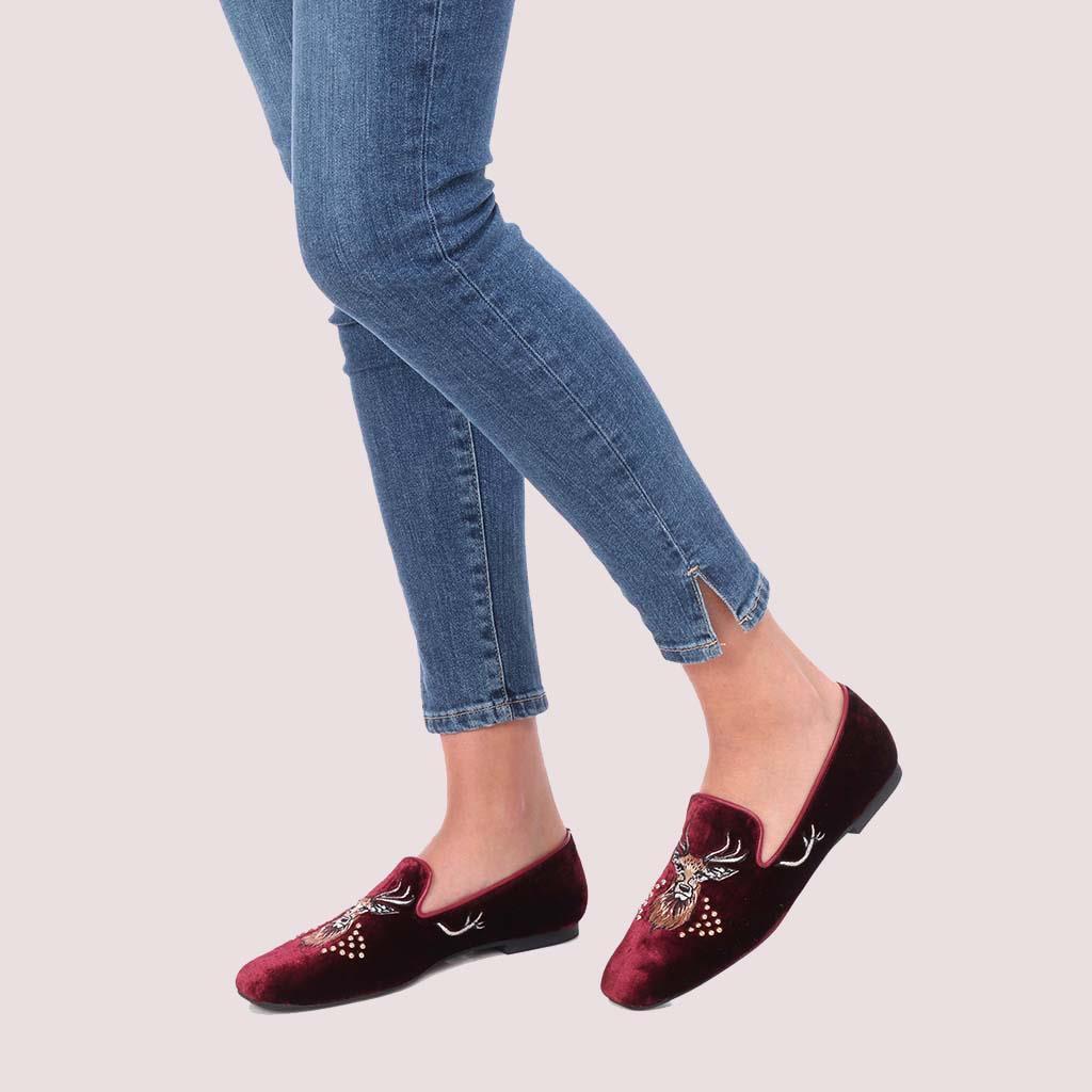 Carla|אדום|נעלי בובה|נעלי בלרינה|נעליים שטוחות|נעליים נוחות|ballerinas