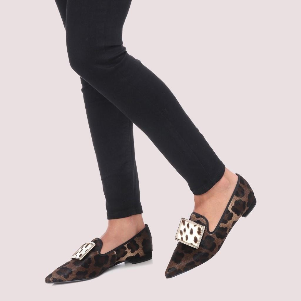 Clementine|חום|שחור|נעלי בובה|נעלי בלרינה|נעליים שטוחות|נעליים נוחות|ballerinas