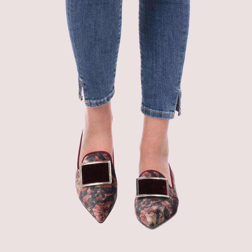 Clementine|אפור|בורד|ירוק|בורדו|נעלי בובה|נעלי בלרינה|נעליים שטוחות|נעליים נוחות|ballerinas