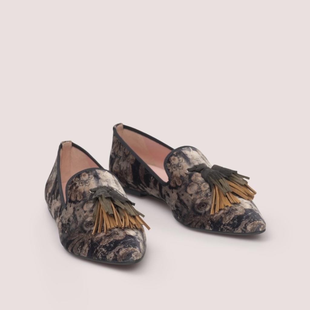 Tyra|חום|כאמל|אבן|אפור|נעלי בובה|נעלי בלרינה|נעליים שטוחות|נעליים נוחות|ballerinas