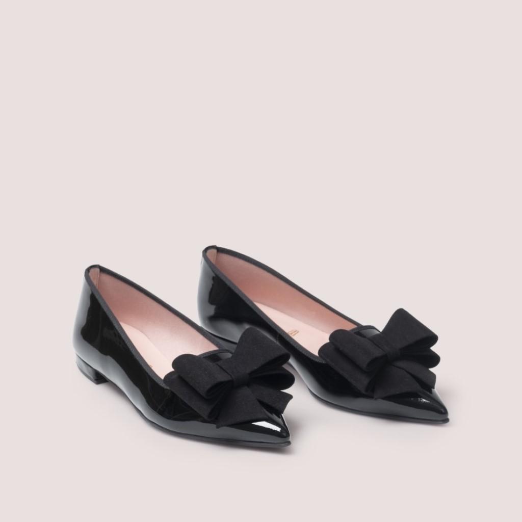 Clementine|שחור|נעלי בובה|נעלי בלרינה|נעליים שטוחות|נעליים נוחות|ballerinas