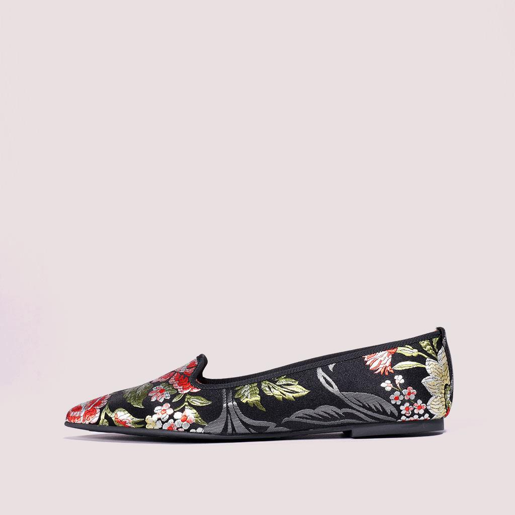 Ella|שחור|אדום|כסף|נעלי בובה|נעלי בלרינה|נעליים שטוחות|נעליים נוחות|ballerinas