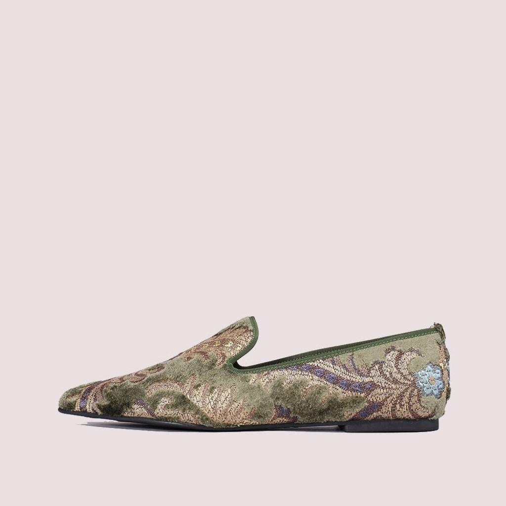Ella כחול ירוק נעלי בובה נעלי בלרינה נעליים שטוחות נעליים נוחות ballerinas