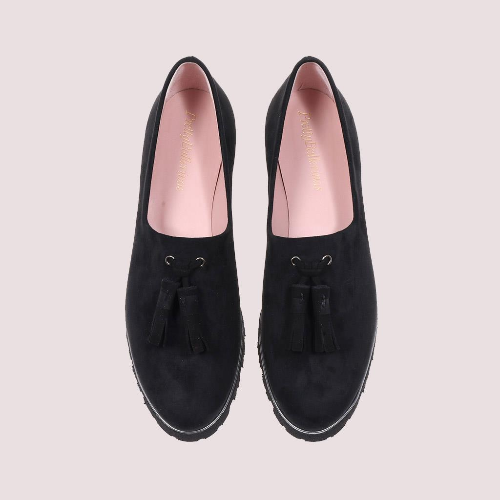 Charlize|שחור|נעלי בובה|נעלי בלרינה|נעליים שטוחות|נעלי פלטפורמה|ballerinas